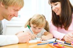Desenho feliz da família Imagens de Stock