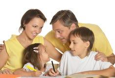 Desenho feliz da família Fotos de Stock
