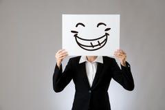 Desenho feliz da ilustração da expressão da cara Foto de Stock