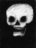 Desenho humano do crânio Foto de Stock