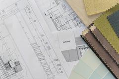 Desenho interior com esquema de cores material imagem de stock royalty free