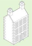 Desenho isométrico da casa de bonecas Imagens de Stock Royalty Free