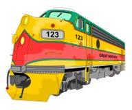 Desenho locomotivo fotografia de stock royalty free