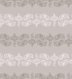 Desenho a mão livre dos lírios Teste padrão sem emenda Fotos de Stock Royalty Free