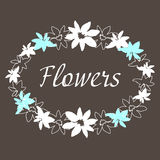 Desenho manual do quadro floral do vintage Imagens de Stock
