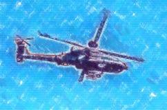 Desenho militar do sumário da ilustração do projeto da arte do helicóptero foto de stock