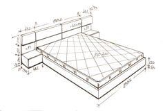 Desenho moderno da carta branca do projeto interior. Imagens de Stock Royalty Free
