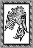 Desenho nacional zool?gico celta Le?o animal com ornamento Imagem do vetor ilustração do vetor