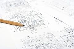 Desenho técnico Fotos de Stock