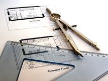 Desenho técnico Fotografia de Stock