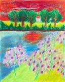 Desenho tropical da floresta Imagem de Stock
