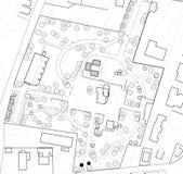 Desenho urbano do plano fotografia de stock