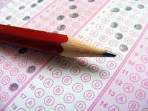 Desenhos óticos de papel e de lápis de teste para locais educacionais Fotografia de Stock