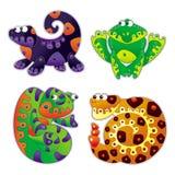 Desenhos animados 3 dos animais Imagem de Stock Royalty Free