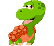 Desenhos animados adoráveis da tartaruga Imagens de Stock Royalty Free