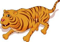 Desenhos animados agressivos do tigre Ilustração Stock