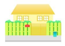 Desenhos animados alaranjados da casa Foto de Stock