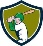 Desenhos animados americanos da crista da batedura do jogador de beisebol Foto de Stock