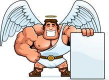 Desenhos animados Angel Sign ilustração do vetor