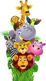 Desenhos animados animais Fotografia de Stock Royalty Free