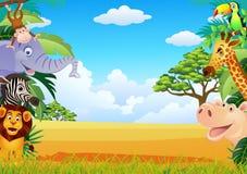 Desenhos animados animais Imagens de Stock Royalty Free