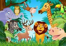 Desenhos animados animais Imagem de Stock