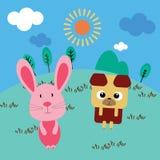 Desenhos animados animais Foto de Stock Royalty Free