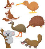 Desenhos animados animais australianos Fotos de Stock Royalty Free