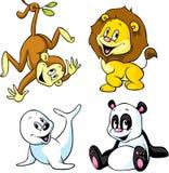 Desenhos animados animais bonitos Foto de Stock Royalty Free