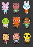 Desenhos animados animais bonitos pequenos isolados Imagens de Stock Royalty Free