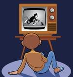 Desenhos animados animated de observação da criança ilustração stock