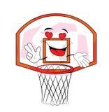 Desenhos animados apaixonado da aro de basquetebol Fotos de Stock Royalty Free