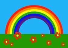 Desenhos animados: arco-íris ilustração stock