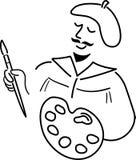 Desenhos animados Artist/ai Imagens de Stock Royalty Free