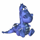 Desenhos animados azuis do dragão ilustração royalty free