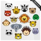 Desenhos animados bonitos animais dos animais selvagens Foto de Stock