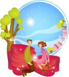 Desenhos animados bonitos Charactors para o dia do Natal e de Valentim ilustração royalty free