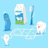 Desenhos animados bonitos com conceito saudável Imagens de Stock
