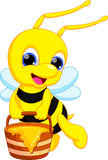 Desenhos animados bonitos da abelha ilustração stock