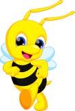 Desenhos animados bonitos da abelha ilustração royalty free