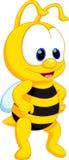 Desenhos animados bonitos da abelha ilustração do vetor