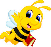 Desenhos animados bonitos da abelha Fotografia de Stock