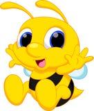 Desenhos animados bonitos da abelha do bebê ilustração do vetor