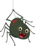 Desenhos animados bonitos da aranha ilustração do vetor