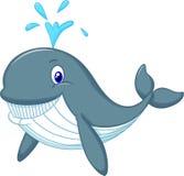 Desenhos animados bonitos da baleia Fotos de Stock Royalty Free