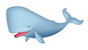 Desenhos animados bonitos da baleia Fotografia de Stock