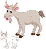 Desenhos animados bonitos da cabra Fotografia de Stock Royalty Free