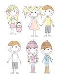 Desenhos animados bonitos da criança Foto de Stock Royalty Free