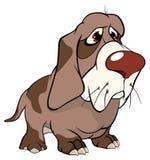 Desenhos animados bonitos da ilustração do cão de caça Foto de Stock Royalty Free