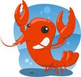 Desenhos animados bonitos da lagosta Foto de Stock